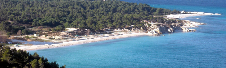 Beaches in Sithonia Greece, organized, secluded, hotels, rooms, map ...