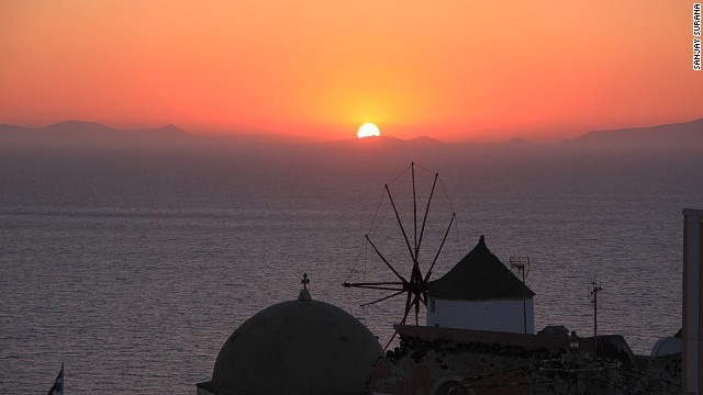 Santorini Cyclades Greece