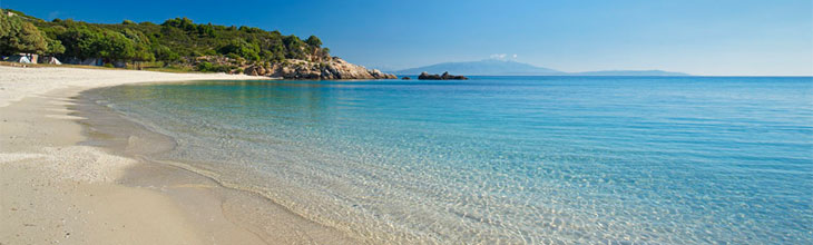 Ammouliani beaches Halkidiki Greece map hotels rooms islet