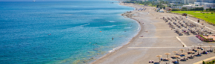 Rhodes island Greece beaches map hotels accommodation pictures