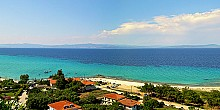 Afytos beach in Halkidiki