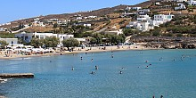 Agathopes beach in Syros island