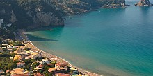Agios Gordios beach in Corfu island