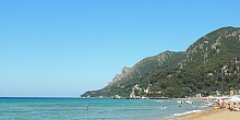 Glyfada beach in Corfu island