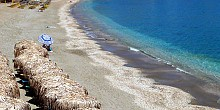 Paleochori beach in Milos island